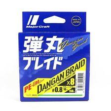 Major Craft Dangan Braided Linea X8 150m P.e 1.2 Green Db8-150/1.2gr/25lb (5935)