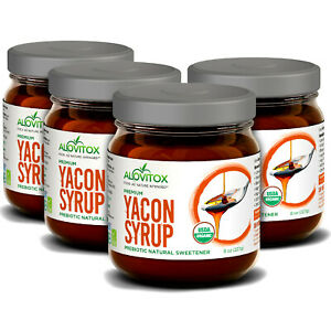 4 Pack Yacon Syrups 8oz | Natural Sweetener | Antioxidants, Vitamins, Prebiotics