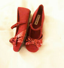 Shoes dress girls size 11M new red fabric upper balance man made materials red