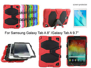 """Heavy Duty Shock Proof case/Screen Protector For Samsung Galaxy Tab A 8"""" / 9.7"""""""