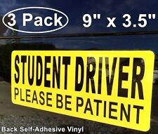 3 STUDENT DRIVER Car Window Bumper Safety Warning Security Vinyl Sticker Decals