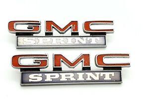 1968-72 GMC SPRINT - EMBLEM / PAAR - VINTAGE - ORIGINAL - USA