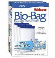 Bio Bag Filter Cartridges Tetra Whisper Assembled Aquarium Tank Large 3 Pack