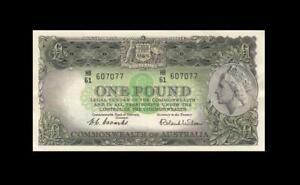 "1953 AUSTRALIA QEII 1 POUND ""CBA"" NOTE **Coombs** (( aUNC ))"