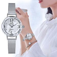Women Watches Ladies Quartz Stainless Steel Mesh Belt Bracelet Dress Wrist Watch