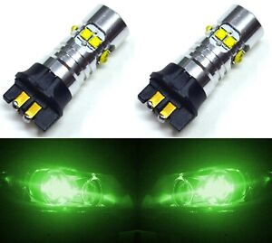 LED 50W 12183 PW19W Green Two Bulbs DRL Daytime Running Light Volvo Show OE