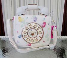 Betsey Johnson Kitsch Floral Rosebud Telephone Phone Crossbody Bag Hotline! NWT