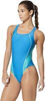 Speedo Women's 239901 Pro LT Drop Back Solid One Piece Swimsuit Size 8/34