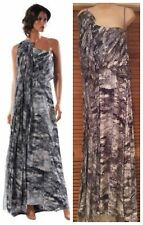 NEW MAX AZRIA by BCBG LONG BLACK COMB SILK PRINTED DRESS NTR6G806 sz S $698