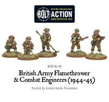 Los ingenieros de Combate Ejército Británico Perno acción Warlord Games 28 mm