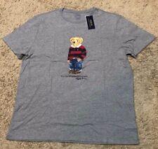 Brand New Polo Ralph Lauren BLUE JEAN Bear Logo T TEE SHIRT