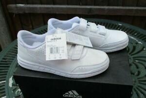 Adidas Boys Girls Shoes Kids Altasport School Casual Running Trainers White UK 5