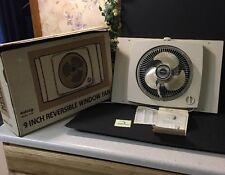 """Vintage Galaxy Window Fan 2 speed 9w Reversible Works 9"""" Blades Intake Exhaust"""