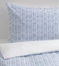 Ikea Gomblomma Double Duvet Set 200 x 200 cm Blue & White 2 Pillowcases, New