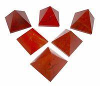 Set of 5 Red Jasper Crystal Healing Pyramid Red Jasper Pyramid for Crystal Grid