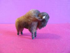 Handwork Kunstlerschutz Bison Buffalo Miniature Figure West Germany toy flocked