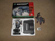 Nintendo 64 System Gray Console In Box CIB N64 Bundle Purple Rumble Complete