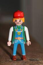 PLAYMOBIL - personnage - FEMME Dresseuse zoo animaux casquette uniforme lion
