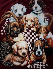 Tagesdecke Kuscheldecke Decke mit Motiv Hunde / Welpen 160x200cm