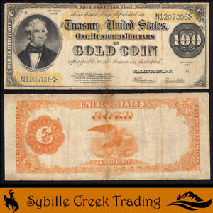 1922 $100 GOLD CERTIFICATE NOTE Fr 1215   07006