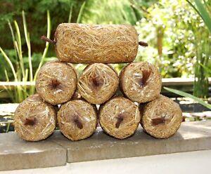 4 or 8 Pack of Barley Straw Logs - Natural Green Water Algae Treatment