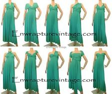 ULTRAMARINE GREEN FULL LONG LENGTH TRANSFORMER CONVERTIBLE DRESS WRAP SZ:US 0-14
