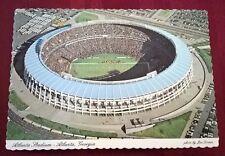 Vintage Atlanta Stadium Souvenir Postcard Georgia Football Baseball Braves Falco