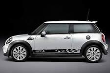 Mini Cooper S Auto Adhesivo, Checker Bandera Raya lateral gráfico personalizado calcomanía