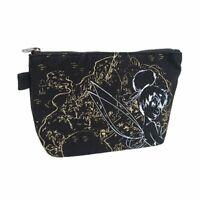 Disney Character Peter Pan Tinker Bell 20cm Soft makeup pouch Bag Black Japan