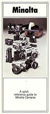 MINOLTA SLR 35mm CAMERA BROCHURE -SRT101-SRT100-SRM-HIMATIC E/7s/C-from 1970s