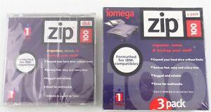 Lot of 4 Iomega 100 MB IBM Formatted Zip Disks New in Original Packing