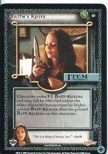 Buffy TVS CCG Limited Class Of 99 Uncommon Card #91 Faiths Knife
