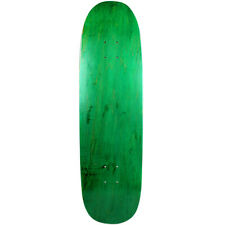 "Old School Skateboard Deck 8.75"" x 32.1"" Green Blunt Nose Popsicle Shape"