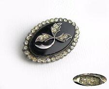 stones 9,79 g Ussr Vintage Brooch Silver 875 white