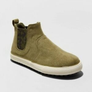 Toddler Boys' Anton Sneakers Cat & Jack Olive Green Size 6 Pull On