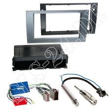 AUDI A4 B6+B7 Autoradio Blende+Ablagefach anthrazit+ISO Aktivsystem Radioadapter