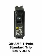 Square D Homeline 20 Amp 1 Pole Standard Trip Circuit Breaker