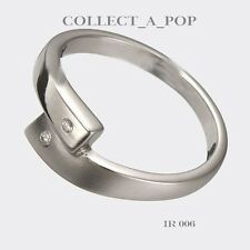 Authentic Kameleon Ice 925 Silver Cross Over Ring Size 8  IR006