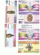 Baltic States - Set of 1+3+5+20+50+100 Baltu - 2002