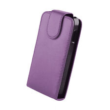 Leather Cover Case Purple Samsung GT-S5230 One Player