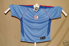 CHICAGO CUBS Embroidered VINTAGE Logo JERSEY/SHIRT Majestic  Small  NWT