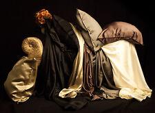 SILK FLAT SHEET 100% Pure SIlk - HANDMADE, King or Queen - Four Shades of Silk