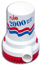 RULE  NON-AUTOMATIC BILGE PUMP (#12) - 2000 GPH, 24V.  582519
