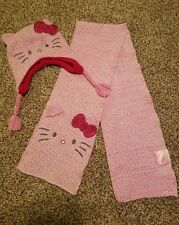 Hello Kitty Scarf And Hat Set