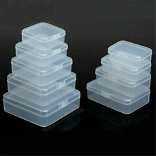 5X Plastic Transparent Clear Storage Jewelry Bead Box Cards Case Business Holder