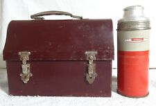Vintage Metal Dome Lunchbox/Lunchpail w/Landers Frary Clark Thermos Bottle 1154