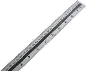 1 Metre 1000mm Aluminium Rules Straight Metal Rule Marking Measuring Scale