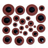 25pcs Brown Tenor Saxophone Sax Pads Woodwind Leather for Yamaha Size Parts