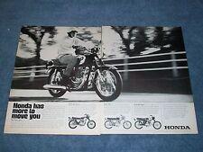 "1969 Honda Super Sport 450 Vintage Ad ""Honda Has More To Move You"" 350 160 125"