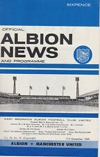 WEST BROMWICH ALBION v MANCHESTER UNITED ~ 17 DECEMBER 1966